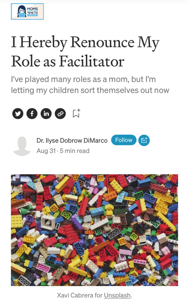 facilitate everything for my kids