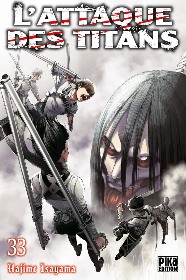 l'attaque des titans,snk,tome 33,manga,seinen,pika edition