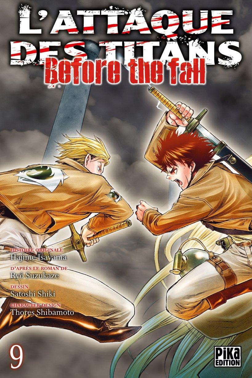 l'attaque des titans,seinen,manga,pika edition,spin-off,Before The Fall,L'attaque des titans Before The Fall,tome 9
