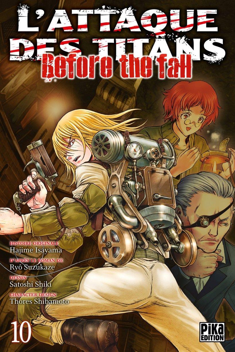 l'attaque des titans,seinen,manga,pika edition,spin-off,Before The Fall,L'attaque des titans Before The Fall,tome 10