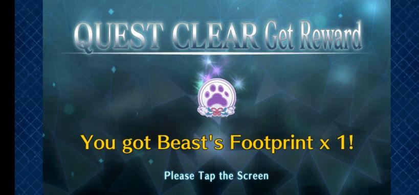 beast's foorprint pour up les commandes cardes