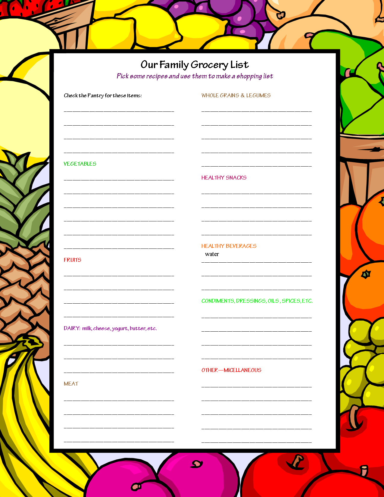 Recipe And Shopping List. Ages 10 Kids Eat Great Recipes .