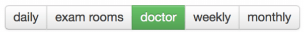 doctor button of physician schedule view in drchrono emr app