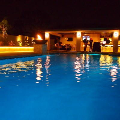 Modern Pool, Spa and Cabana – Finished Product