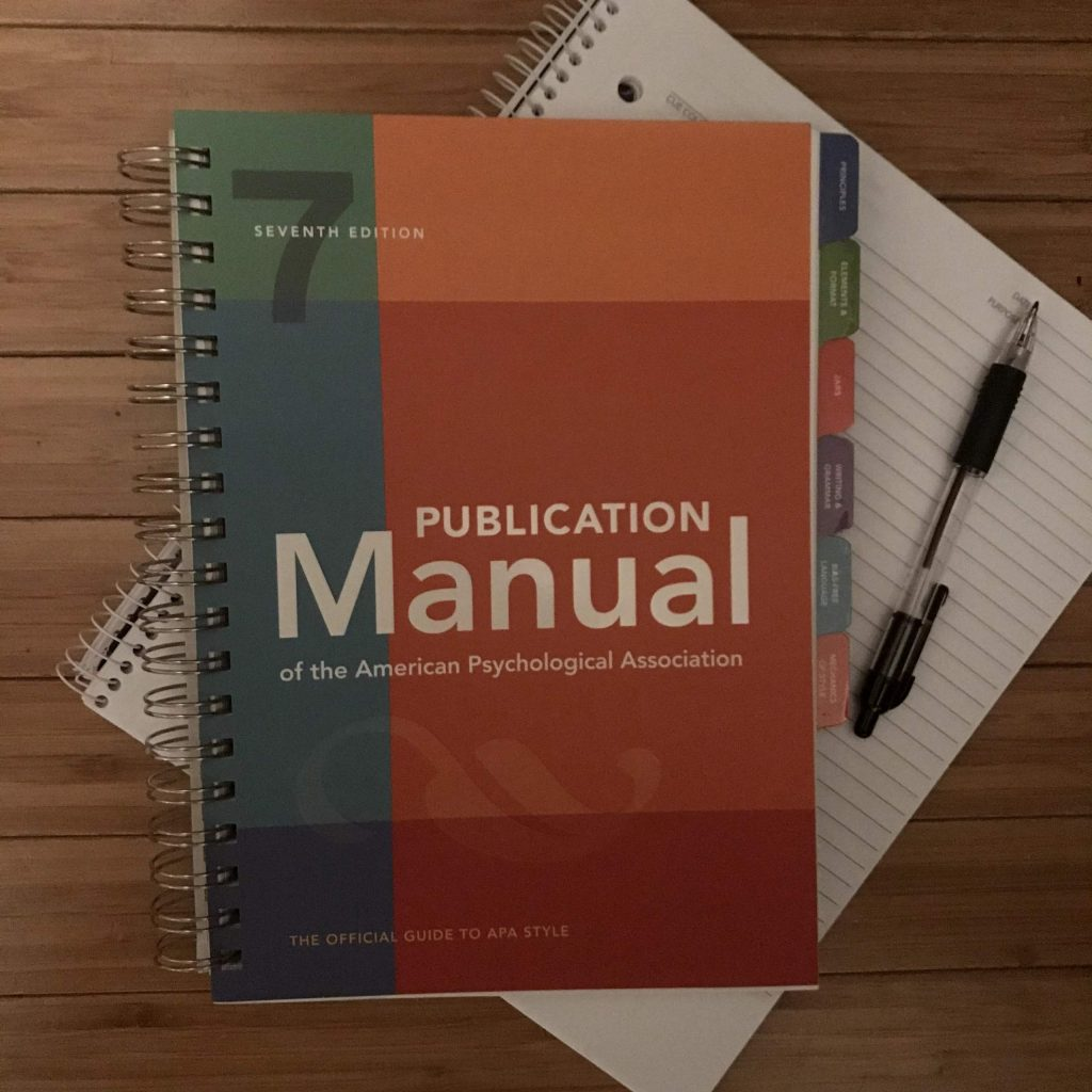 APA 7thE Manual