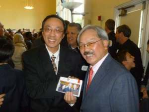 Dr. Dave Liu and former San Francisco Mayor Ed Lee