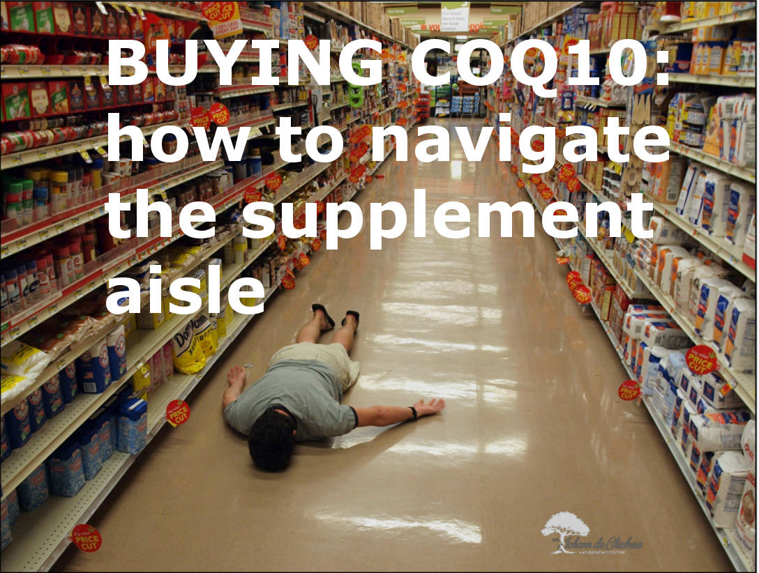 Image of man collapsed in grocery aisle, surrounded by supplements