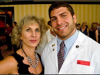 Dr Marie with her son Dr Daniel Hall
