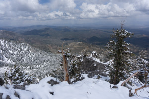 Looking down NE ridge