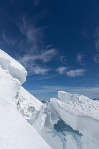 Nice crevasse and clouds