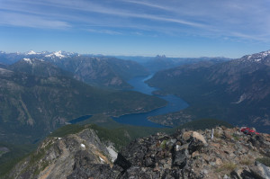 Ross Lake and Hozomeen Peaks