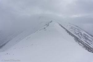 Brief glimpse of summit