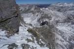 Ledge on upper ridge