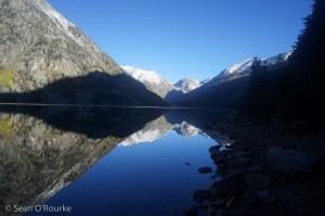 North across Emerald Lake