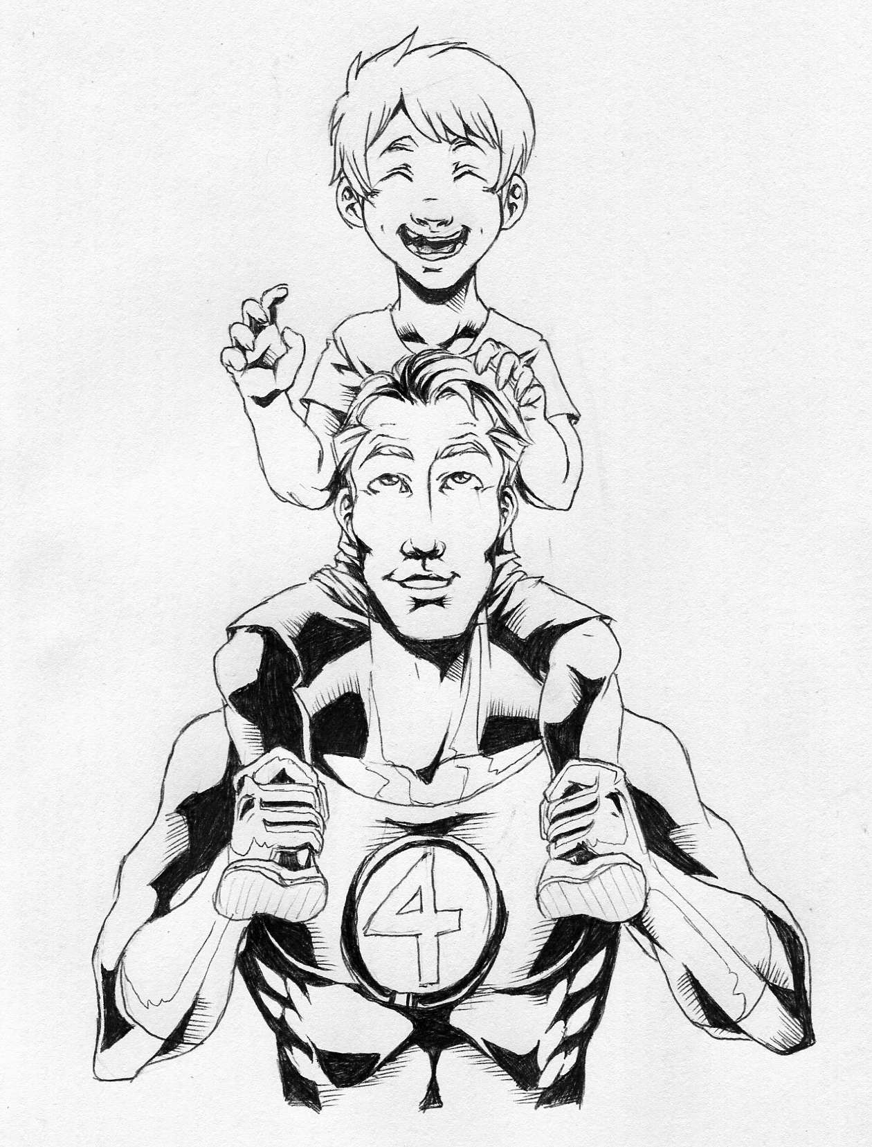 Franklin Richards Vs Mr Fantastic Dreager1