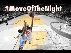 James Harden's Post-Spin Move Finish: NBA #MoveOfTheNight #44 | Dre Baldwin
