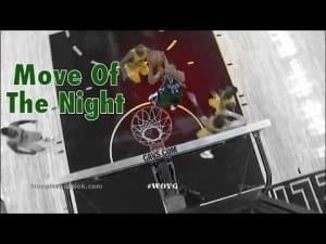 "The ""Greek Freak!"" Spin Move Dunk Move-Of-The-Night # 
