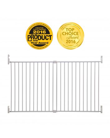 Babies R Us Secure Stairway Gate Parts : babies, secure, stairway, parts, Broadway, Xtra-Wide, Gro-Gate, White, EXCLUSIVELY