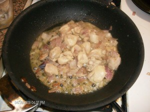 cooking chicken w onions