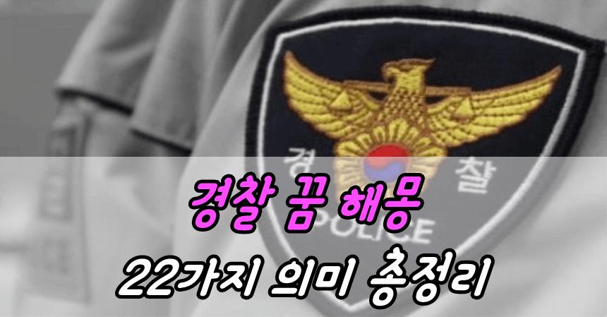 경찰 꿈 해몽 22가지 의미 총정리