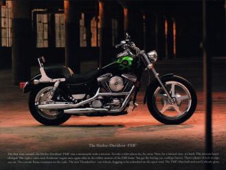 Als CVO-Sondermodell erlebt die FXR ein kurzfristiges Revival. In seinem Werbeprospekt bezeichnet Harley-Davidson die erste FXR als »Motorrad mit einer Mission«, die sich bis heute nicht geändert hat. Dabei waren die ersten CVO-Modelle (im Bild die FXR3) letztlich auch nur Versuchsballons, um herauszufinden, ob teures Werkscustomizing bei der zahlungskräftigen Kundschaft Zuspruch finden würde