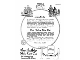 "Werbeplakat der ""Flxible Side Car Company"""