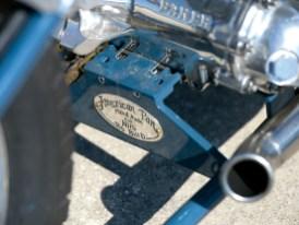 Das kleine Schild am Getriebehalter sagt alles: Viele Parts am Bike entstanden in Handarbeit