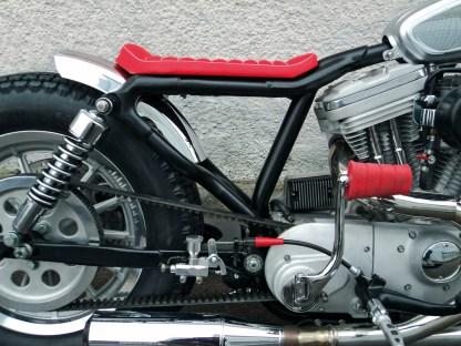 Lohn der Mühe: ein freies Rahmendreieck, der Öltank sitzt in diesem Fall vorm Motor