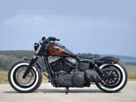 Stämmig steht die Dyna auf den 16-zölligen TTS-Speichenrädern