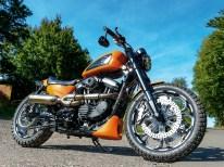 """Harley-Davidson Würzburg Village """"scrambled"""" eine Serien-Iron in eine biestig heiße Fahrmaschine"""