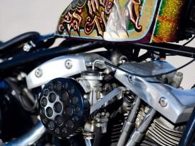 Weil sein eigener Motor hochging, lieh ihm Big Boys Cycles diesen Shovel-Hybriden, zusammengebaut aus Harley- und S&S-Teilen