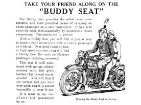 Die versteckte Botschaft war wohl: Kauf dir einen Buddy Seat und du bist nicht mehr lange allein