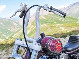 Bei der hier gezeigten Sportster war die Idee, das Bike niedriger und kürzer zu machen