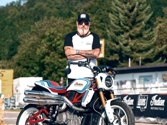 Bike-Schmiede-Süd- Inhaber und Indian- Vertragshändler Bodo Hayen