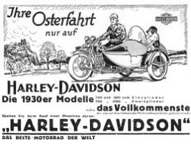 """Harley warb ganz unbescheiden mit dem Slogan """"Das beste Motorrad der Welt"""""""