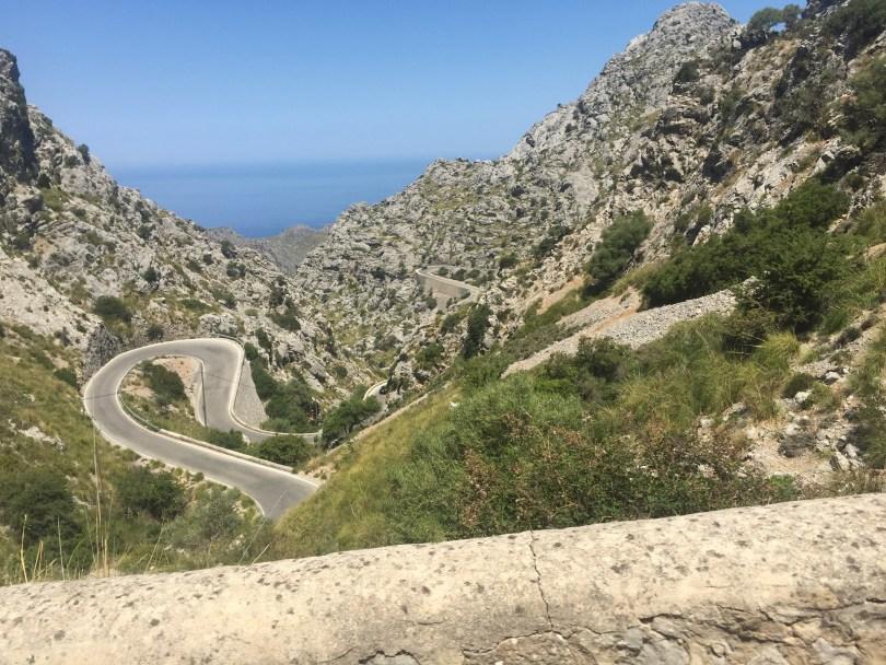 Berge Serpentinen Mallorca Gebirge