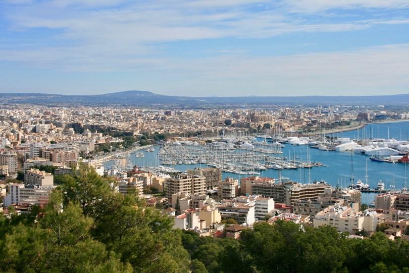 Aussicht Palma de Mallorca zum Hafen