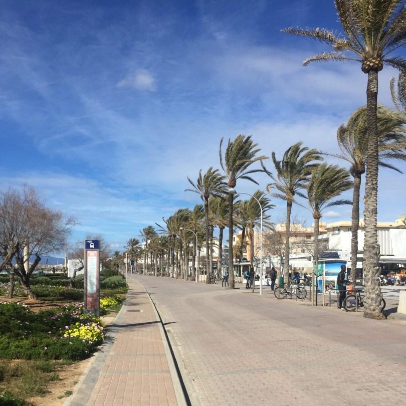 Promenade an der Playa de Palma