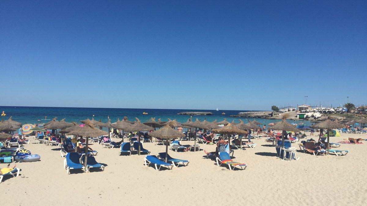 Der Strand S'Illot an der Ostküste von Mallorca