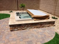 Backyard Landscapes With Hot Tubs | Joy Studio Design ...