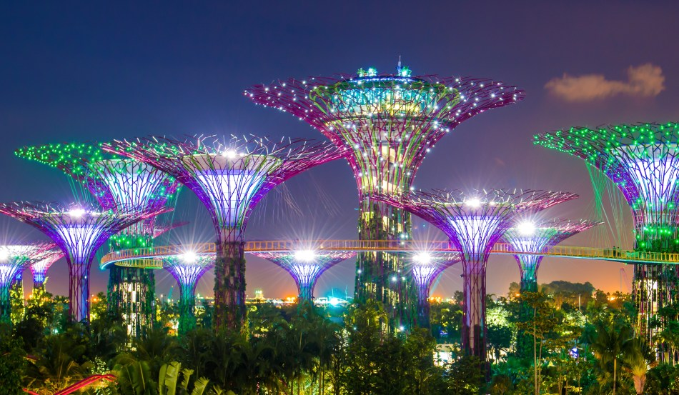 Singapore Gardens by the Bay nighttime