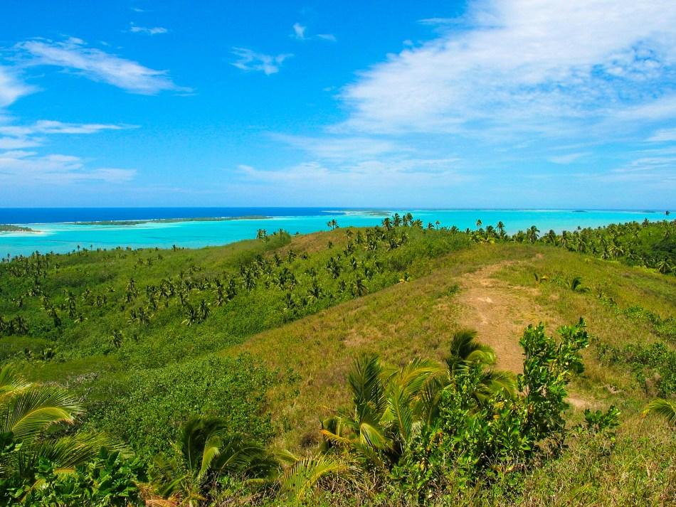 View from Maunga Pu hill Aitutaki
