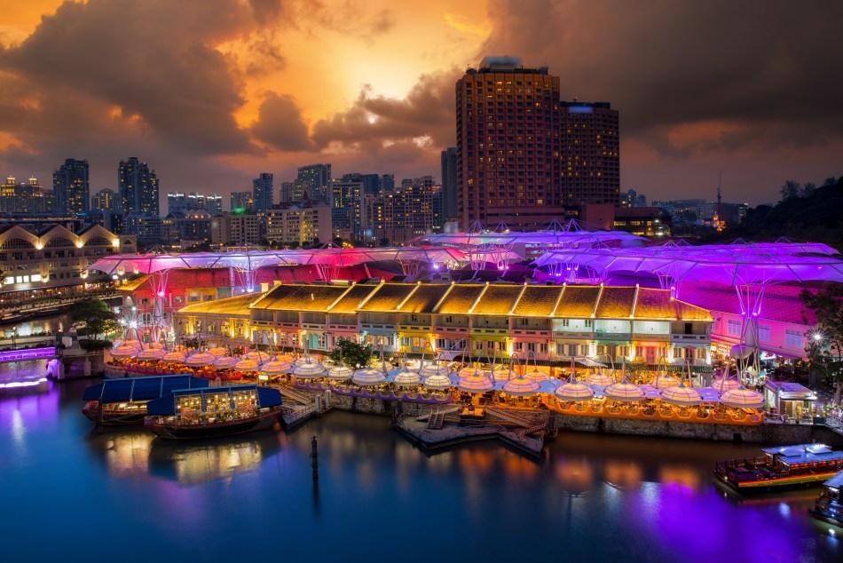 Clarke Quay food market, Singapore