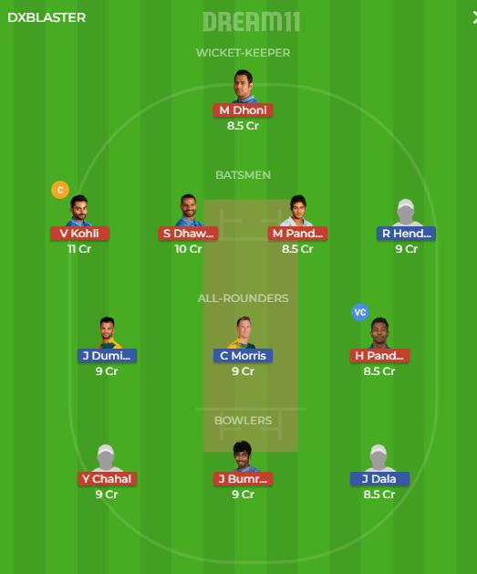 IND vs SA, 3rd T20I Match Dream11 Team