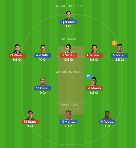 SA vs AUS 3rd Test, Dream11 Team
