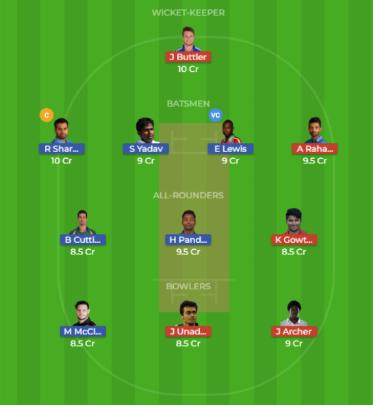 MUM vs RAJ 47th Match Dream11 Team