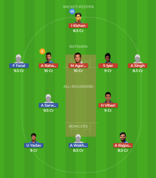 VID vs ROI Dream11 Team and Preview 1st Test