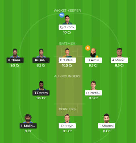 SL vs SA Dream11 Team and Predicted Playing XI