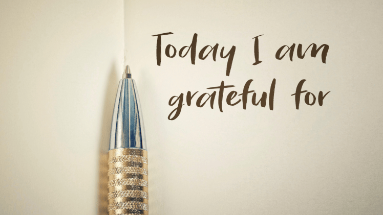 """""""Today I am Grateful for"""" List"""