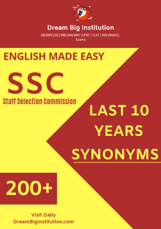 English for SSC 200+ Synonyms PDF Download Asked in Last 10 Years